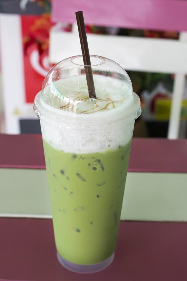 Замороженный чай молока зеленый стоковые фото