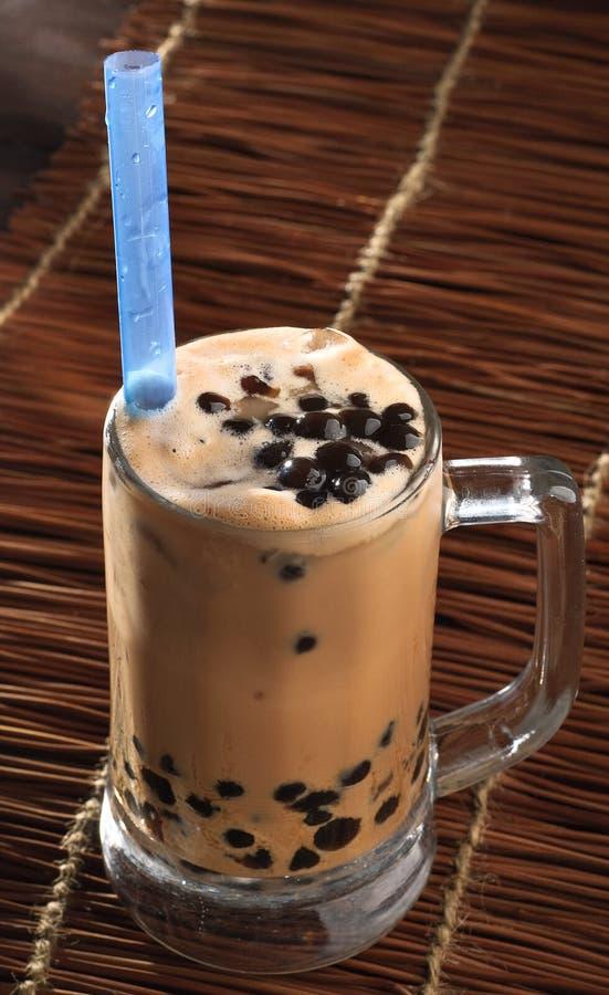 Замороженный чай молока с студнем стоковое изображение