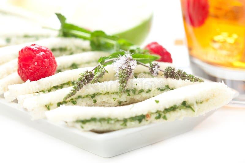 замороженный чай сандвичей стоковое фото