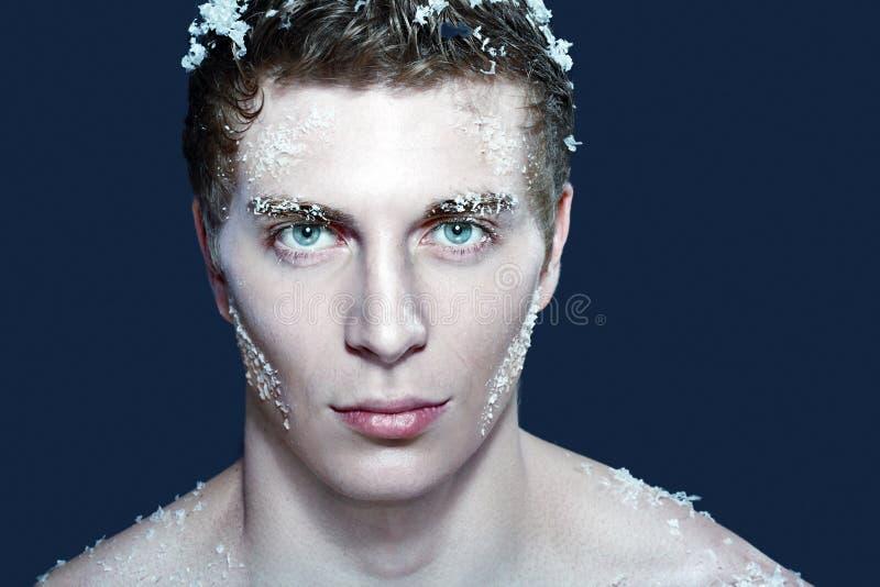 замороженный человек стоковые изображения rf