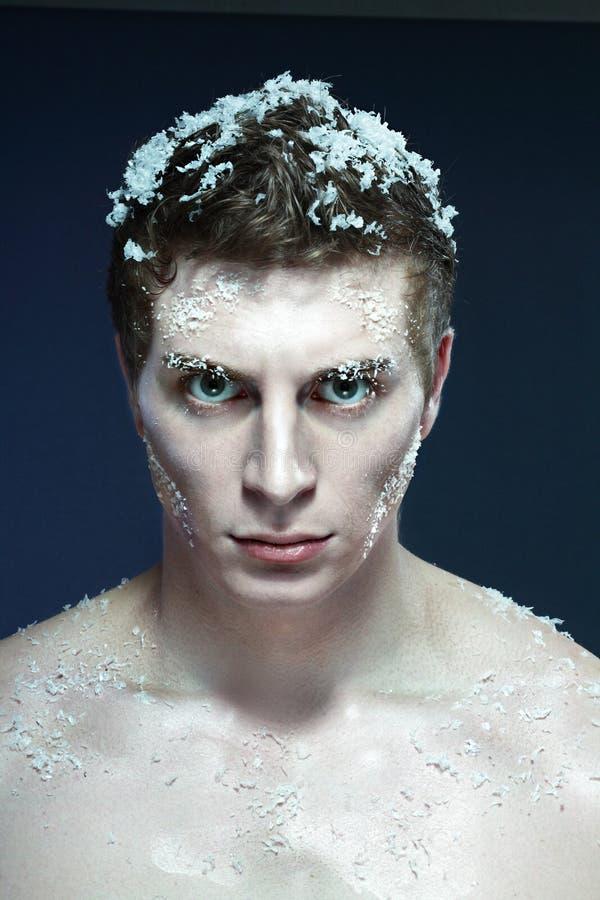 замороженный человек стоковое изображение rf
