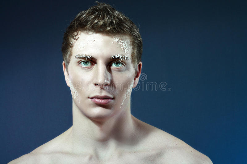 замороженный человек стоковая фотография rf