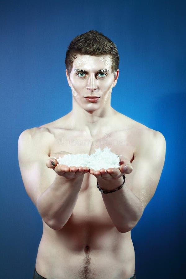 замороженный человек стоковое изображение