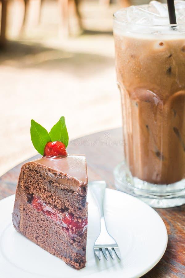 Замороженный mocha и торт черного леса стоковое фото rf