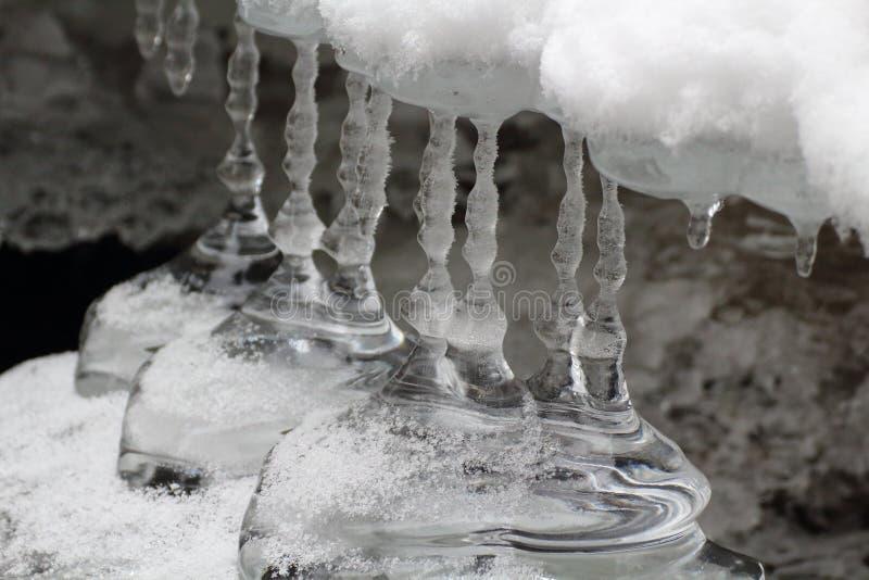 Заморозьте сталактиты, национальный парк рая словака, Словакию стоковые фотографии rf