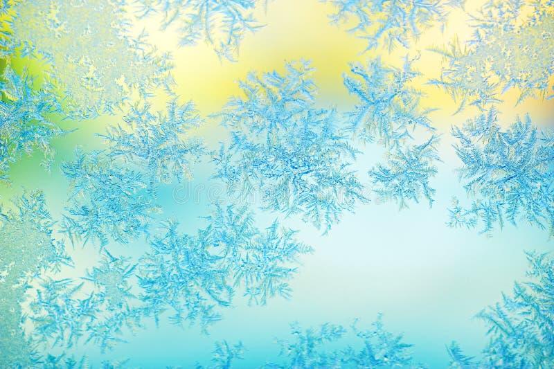 заморозьте стеклянное окно стоковые фотографии rf