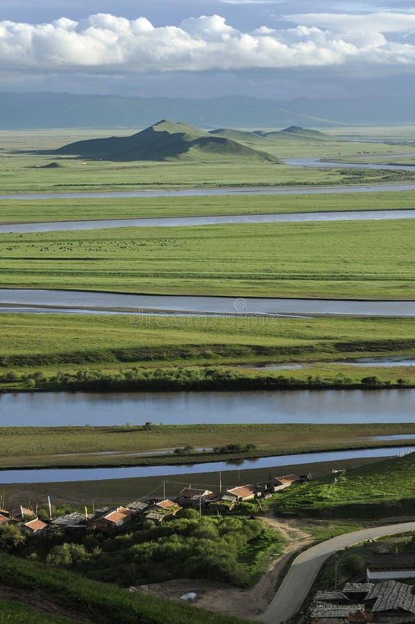 Замотка 9 желтого реки стоковые изображения rf