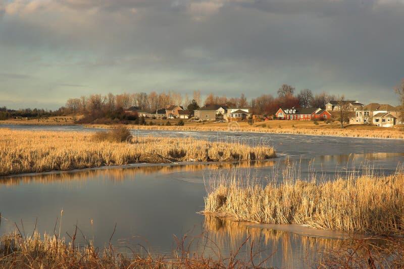 замотка захода солнца реки стоковое изображение rf