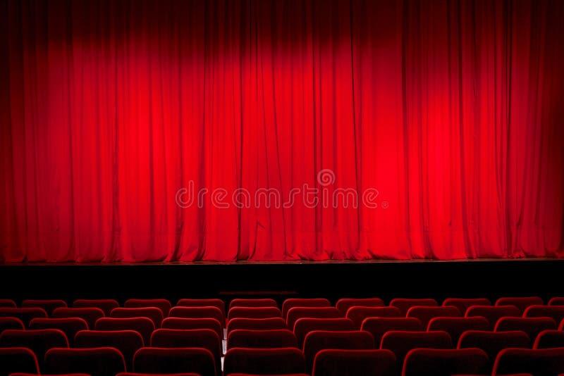 Занавес в театре стоковая фотография rf