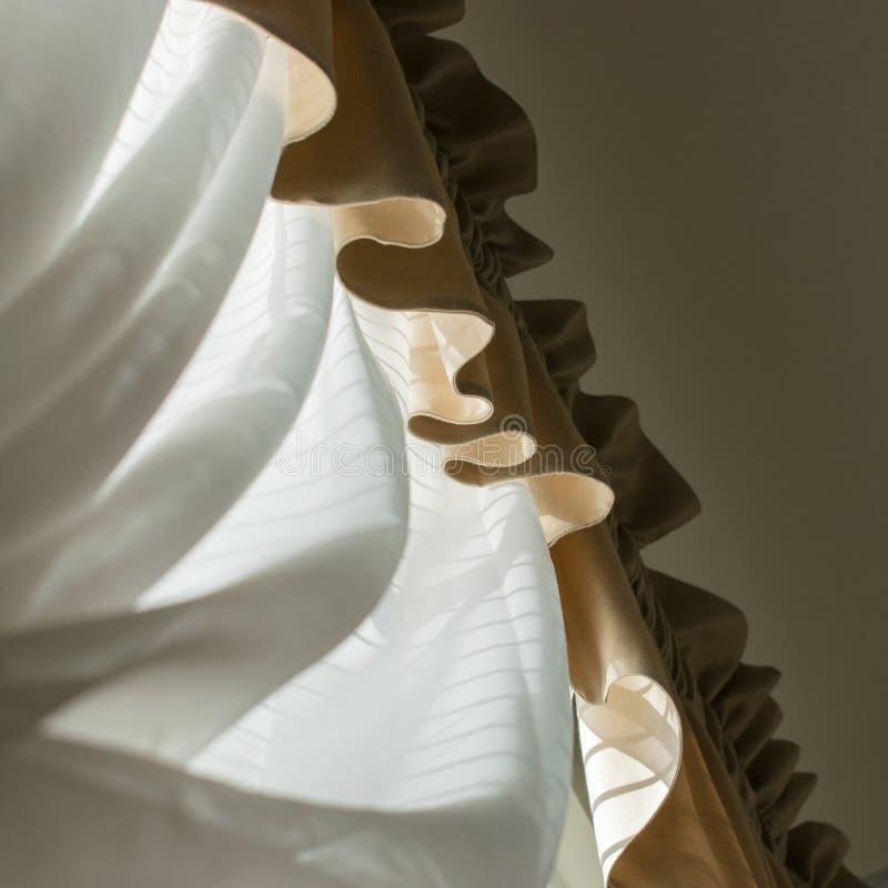 Занавес и задрапировывает кривые стоковое изображение rf