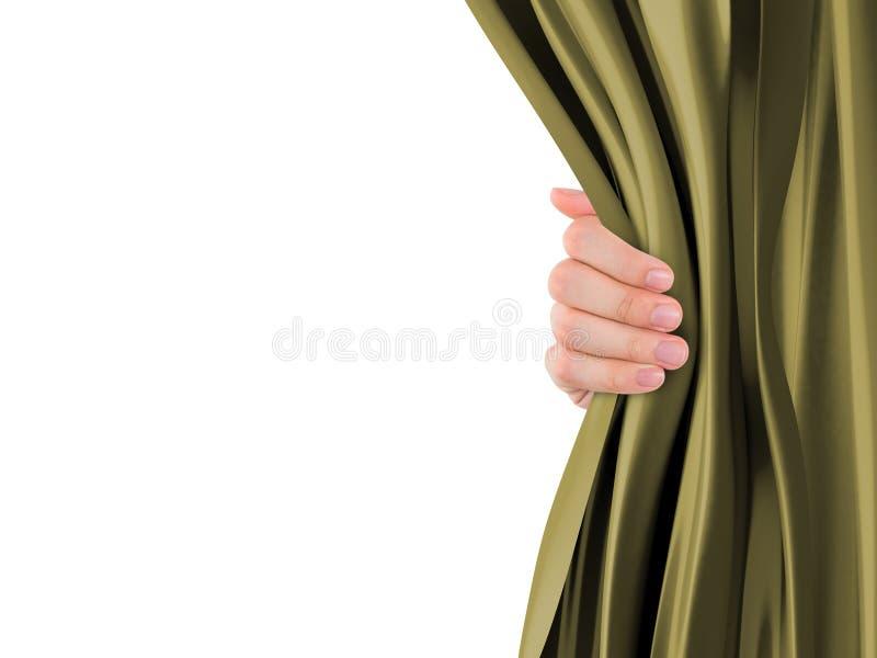 Занавес отверстия руки стоковое изображение