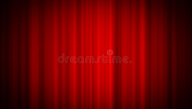 Занавес театра красный на предпосылке развлечений этапа, красной предпосылке занавеса стоковые фото