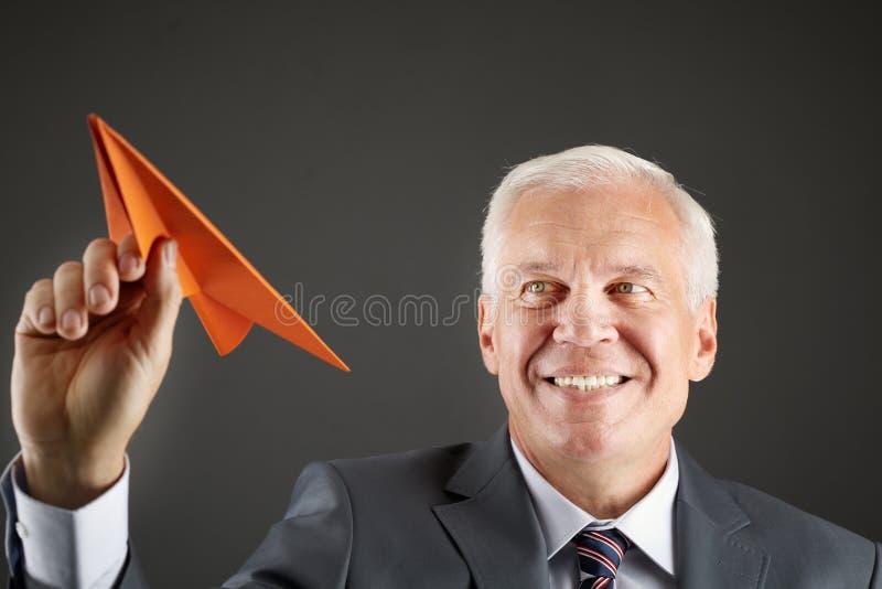 Занимательный бизнесмен стоковое фото