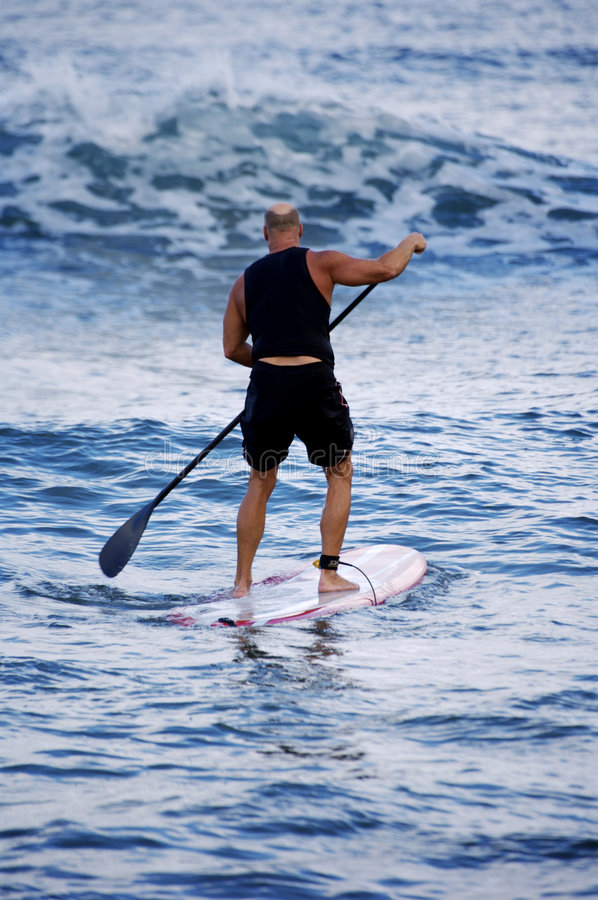 заниматься серфингом весла стоковое фото