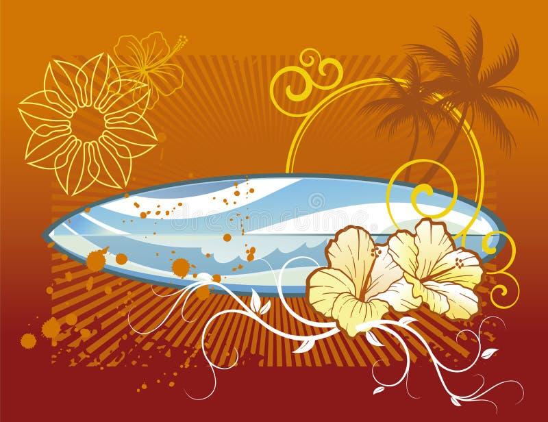 заниматься серфингом предпосылки иллюстрация штока