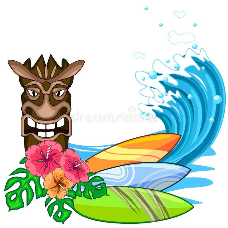 заниматься серфингом принципиальной схемы иллюстрация штока