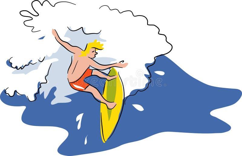 заниматься серфингом бесплатная иллюстрация
