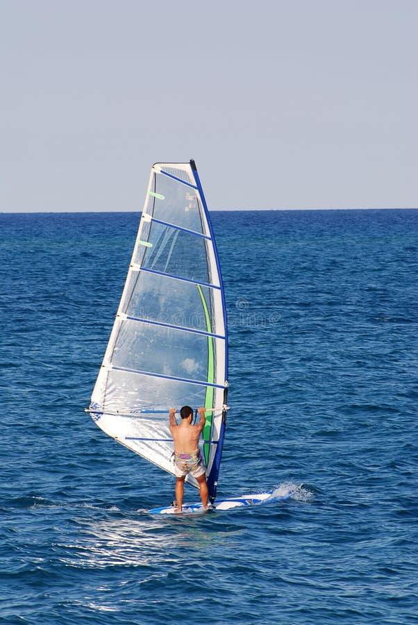 занимаясь серфингом ветер стоковые изображения rf