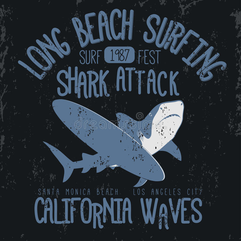 Занимаясь серфингом графический дизайн футболки иллюстрация штока