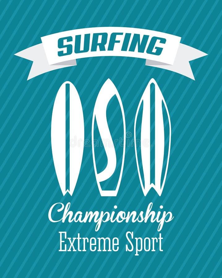 Занимаясь серфингом дизайн бесплатная иллюстрация