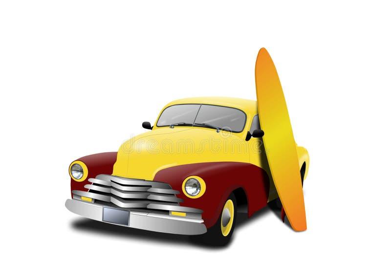 занимаясь серфингом каникула бесплатная иллюстрация