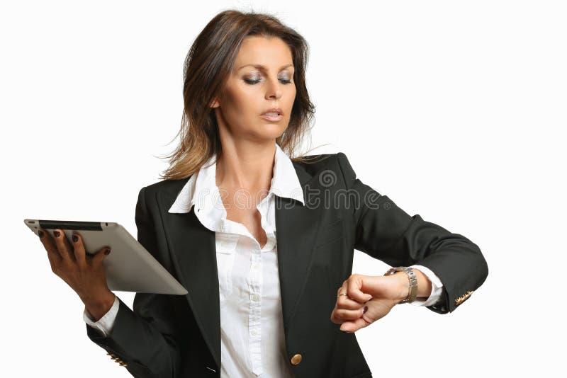 Занятая бизнес-леди стоковое фото rf
