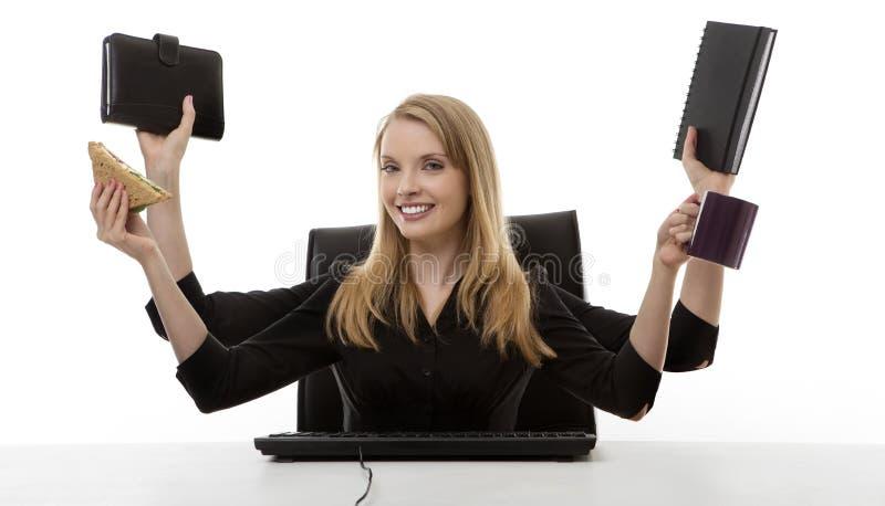 Download Занятая женщина на ее столе Стоковое Фото - изображение насчитывающей workload, работа: 40586772