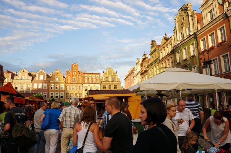 Занятая ярмарка в Poznan стоковое фото