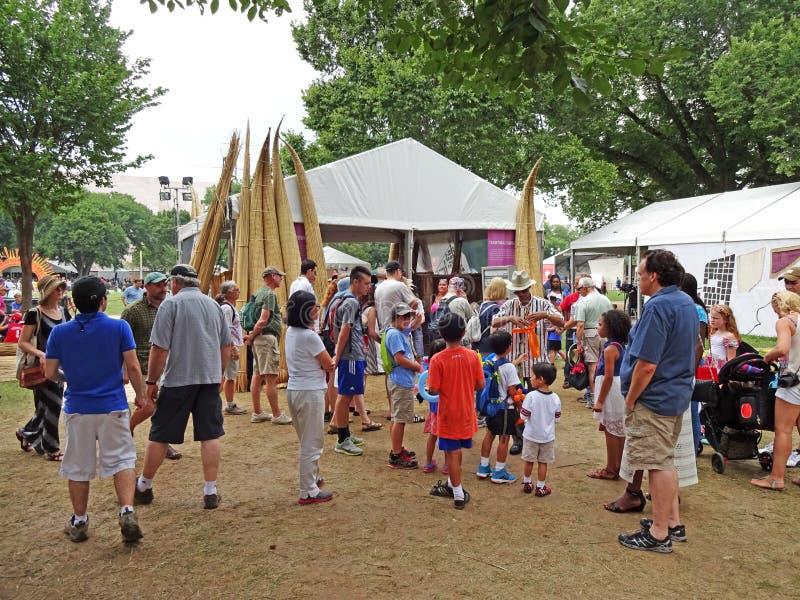 Занятый день на фестивале стоковые фото