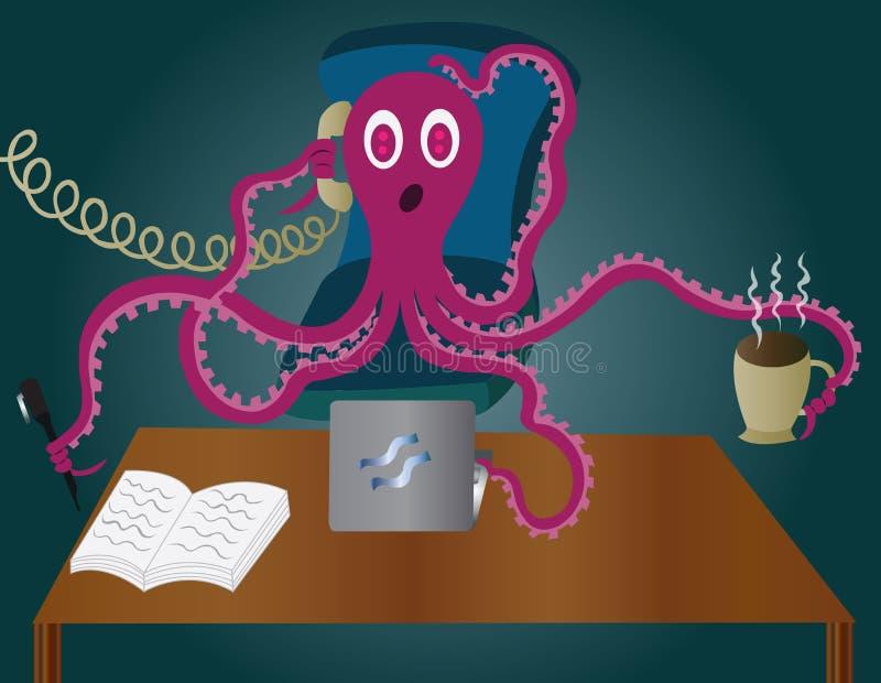 Занятый осьминог бесплатная иллюстрация