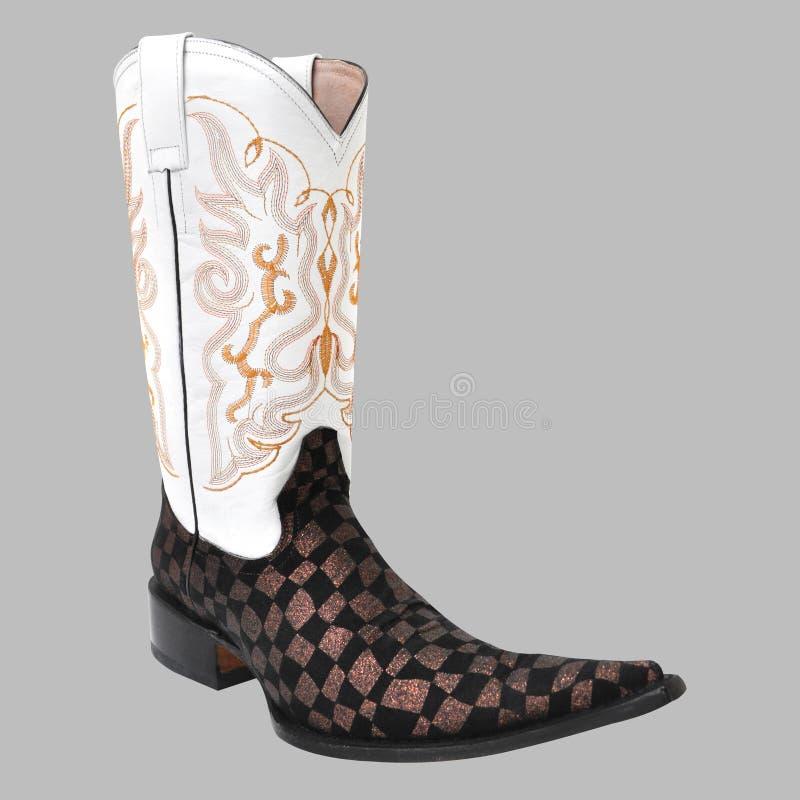 Заострённый мексиканский ботинок ковбоя стоковые фотографии rf