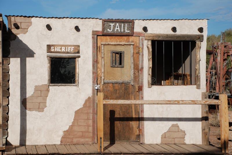 западное тюрьмы ковбоя старое стоковое изображение
