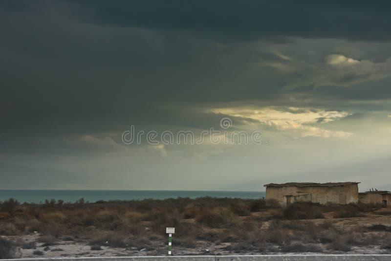 Западный берег, пограничная зона между Израилем и Джордан стоковое изображение