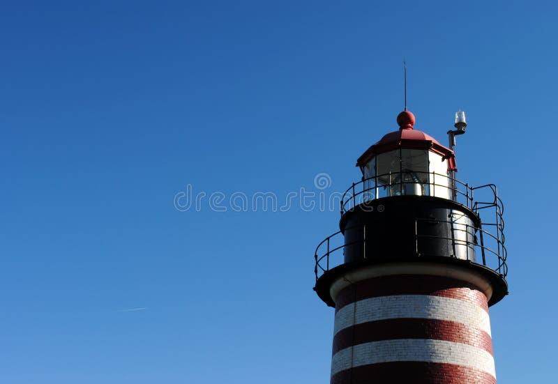 Западный маяк Quoddy, Lubec Я, США стоковая фотография