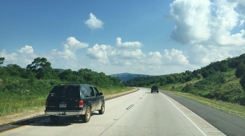 Западный пейзаж Арканзаса и шоссе 4 майн стоковые фото