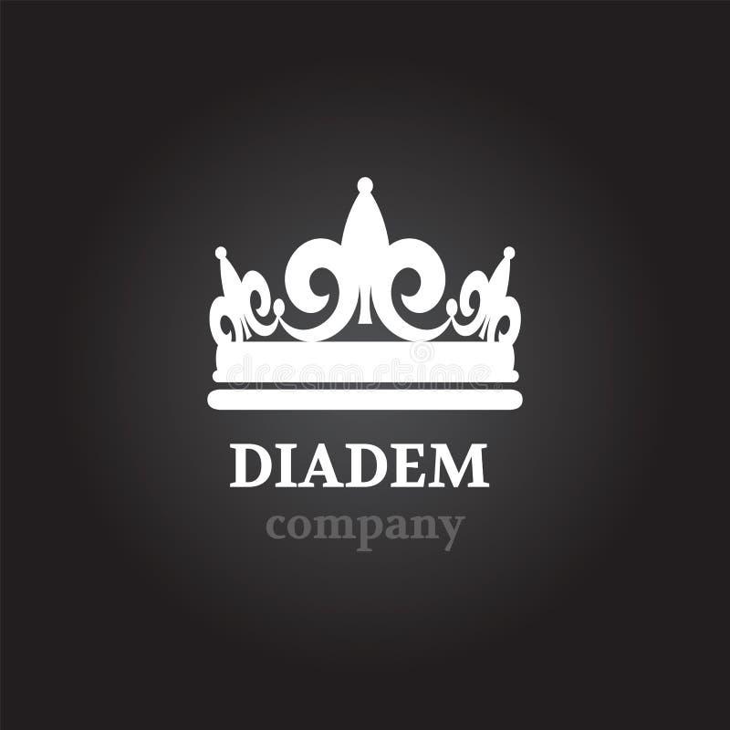 Запас значка силуэта вектора Diadem иллюстрация вектора