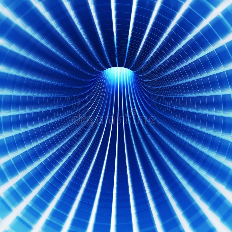 запачкайте тоннель технологии иллюстрация вектора