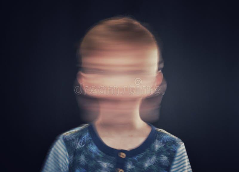 Запачканная голова стоковое фото rf