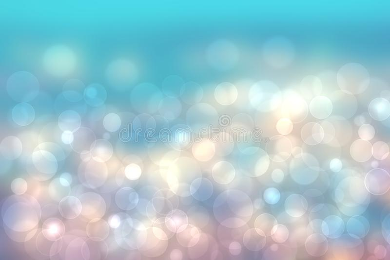 Запачканная конспектом текстура предпосылки bokeh свежего яркого лета весны светлая чувствительная пастельная голубая розовая бел бесплатная иллюстрация