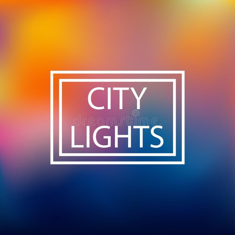 Запачканная предпосылка, город освещает, иллюстрация вектора бесплатная иллюстрация