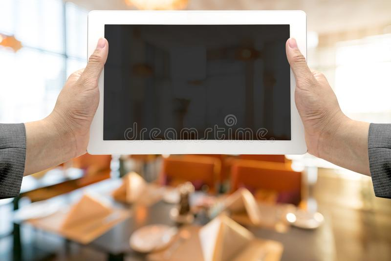 Запачканная предпосылка ресторана стоковая фотография