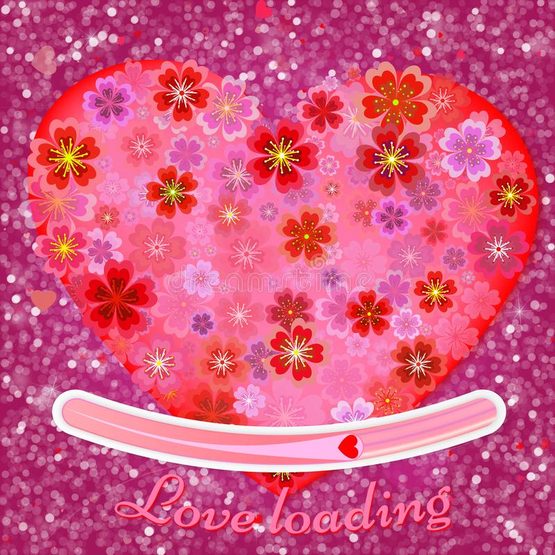 Запачканная предпосылка света bokeh, накаляя розовые сердца бесплатная иллюстрация