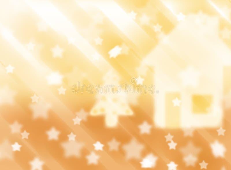 Запачканная розовая предпосылка со звездами r Тема рождества стоковые изображения rf
