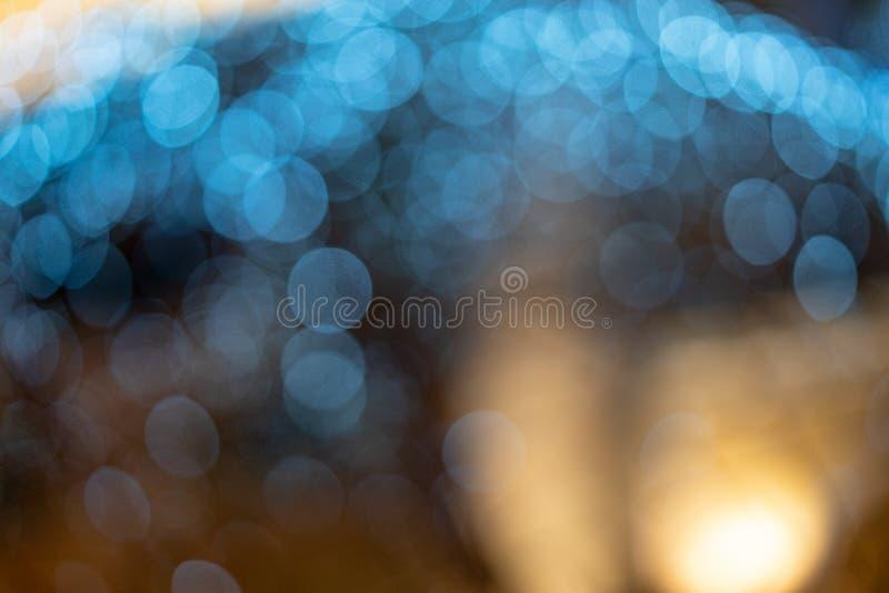 Запачканная синь bokeh, красивые обои для праздничного настроения стоковое изображение