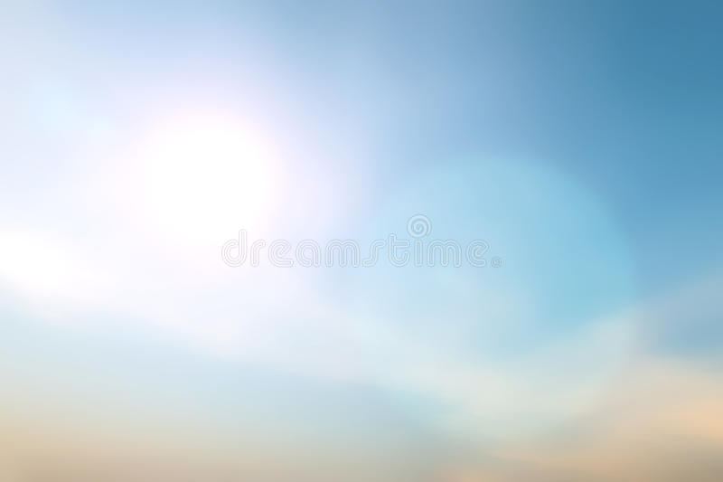 Запачканное красочное bokeh захода солнца на предпосылке неба стоковая фотография rf