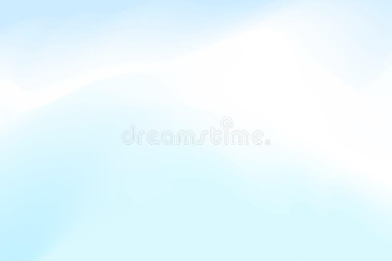 Запачканные голубые и белые пастельные цвета мягко развевают красочное влияние для конспекта предпосылки, градиента иллюстрации в бесплатная иллюстрация