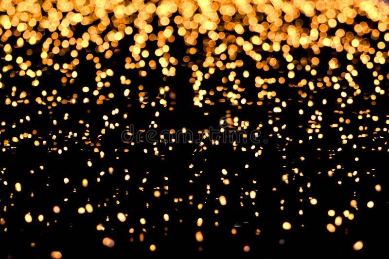 Запачканные желтые светы как абстрактная предпосылка стоковое фото rf