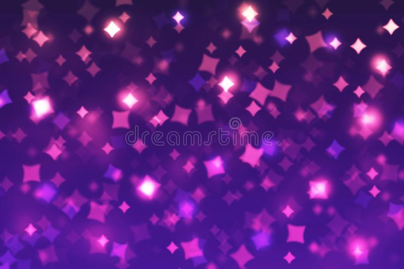 Запачканные косоугольники предпосылки bokeh голубые, фиолетовый, розовый, черный, рождение иллюстрация вектора