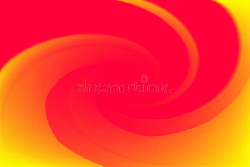 Запачканные красные и желтые цвета переплетают влияние волны красочное для предпосылки, градиента иллюстрации в радуге свирли иск бесплатная иллюстрация