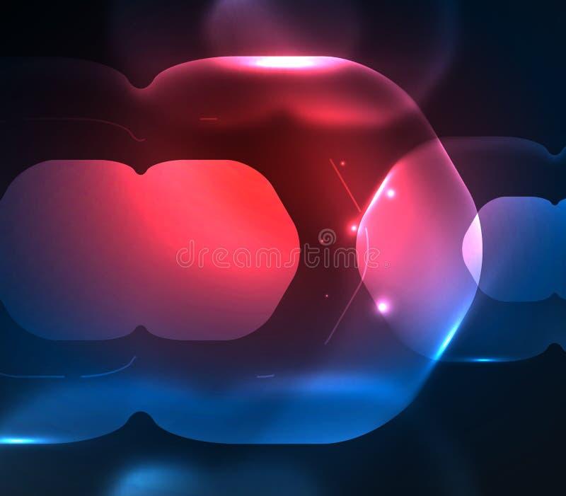 Запачканные прозрачные шестиугольники на темноте, цифровой абстрактной предпосылке бесплатная иллюстрация